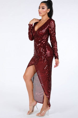 Jessica Rabbit Sequin Dress - LURE Boutique