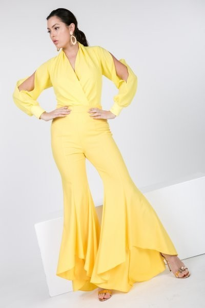 Yellow High Low Pants - LURE Boutique