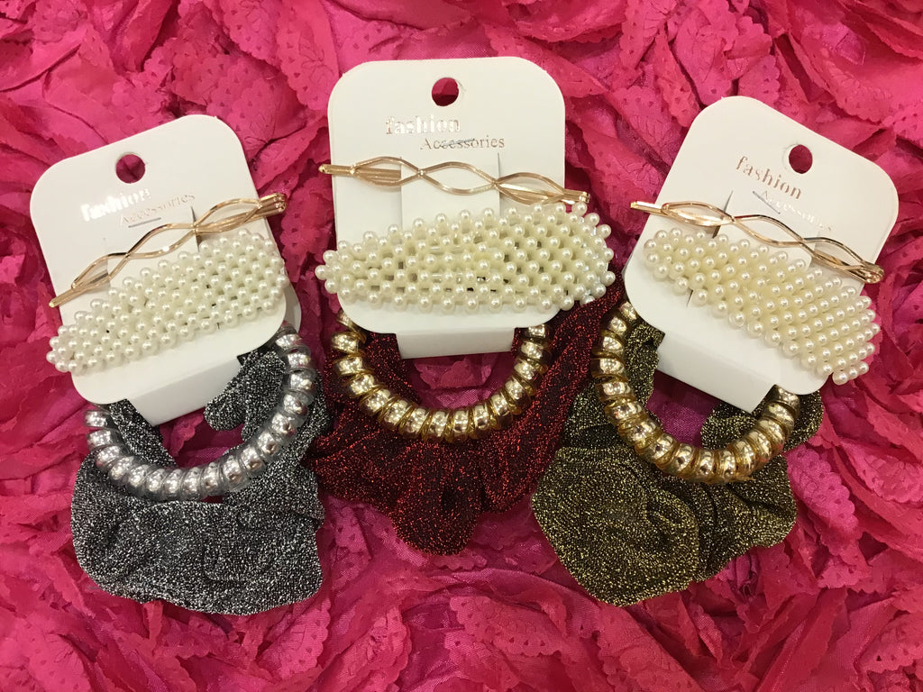 Metallic Scrunchie Set - LURE Boutique