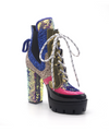 Nell Chunky Sequins High Heel- Mermaid - LURE Boutique