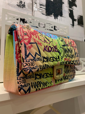 Graffiti Large Crossbody Bag - LURE Boutique