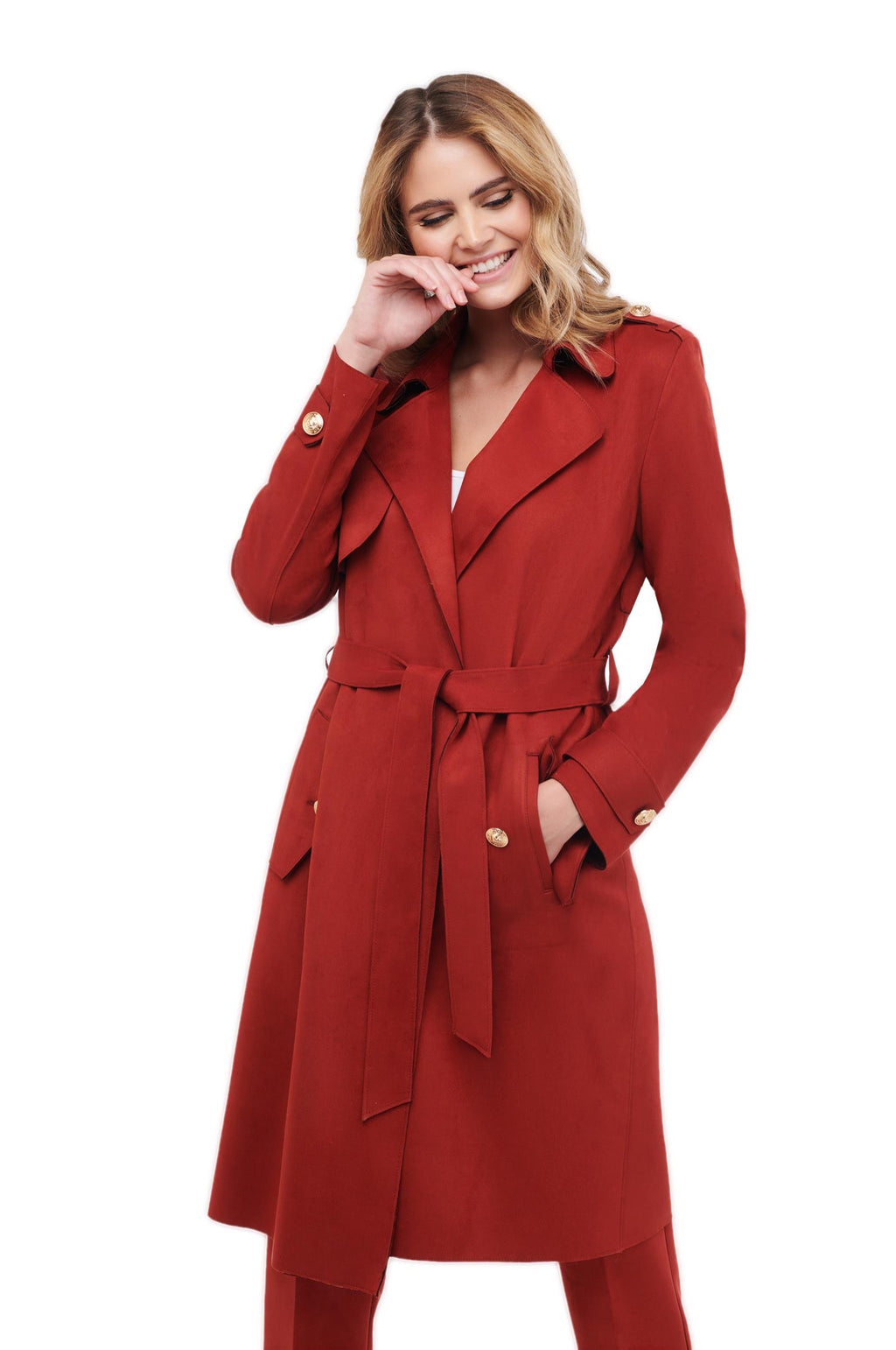 Sienna Suede Luxury Trench Coat - LURE Boutique