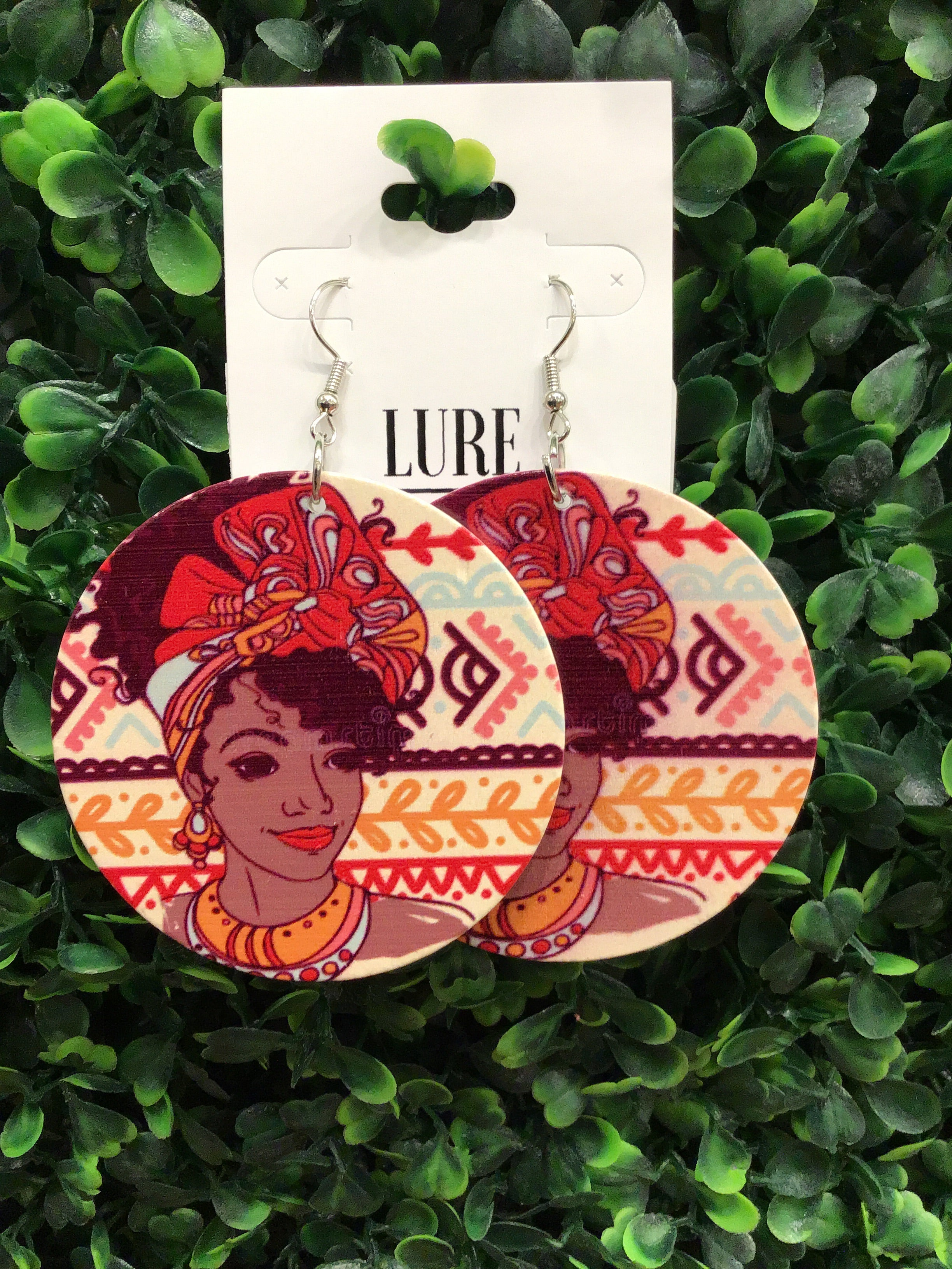 Lady In Red Handcrafted Earrings - LURE Boutique