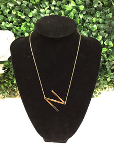 "Gold ""N"" Necklace - LURE Boutique"