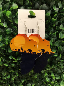 Circle Of Life Wooden Earrings - LURE Boutique