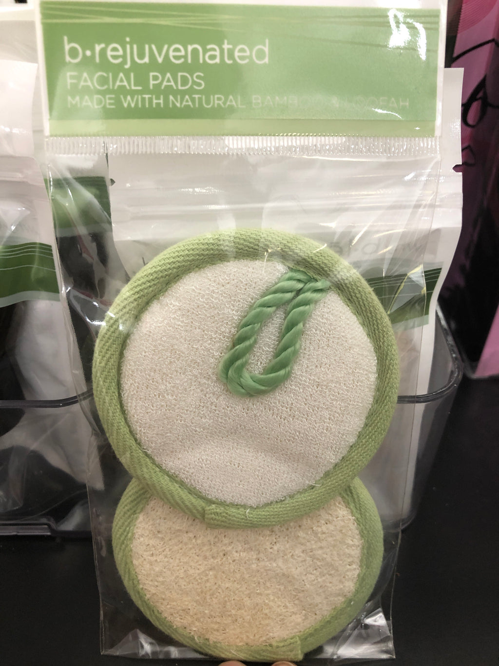 Facial Pads made with Natural Bamboo & Loofah