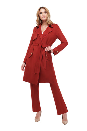 Sienna Suede Luxury Trench Coat