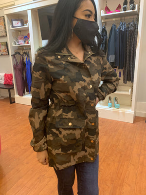 Camouflage Safari Zipper Jacket