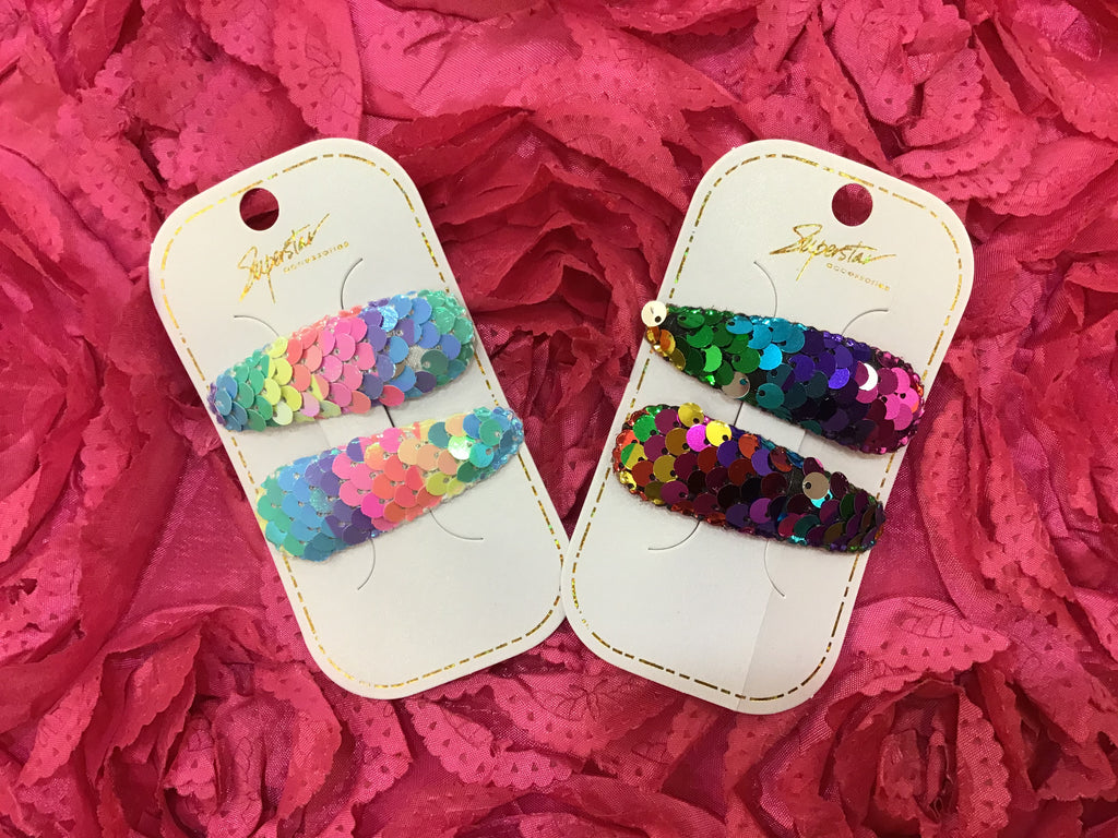 Sequin Hair Clips - LURE Boutique