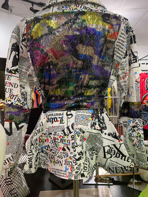 Newspaper Multi Jacket - LURE Boutique