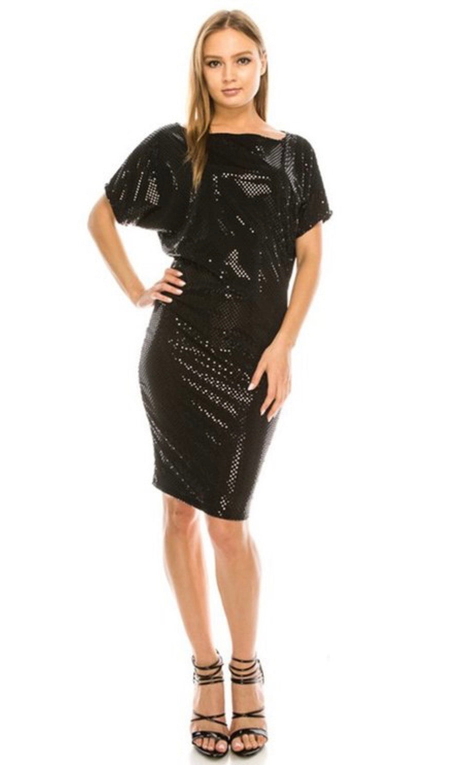 Sparkle Baby Little Black Dress - LURE Boutique