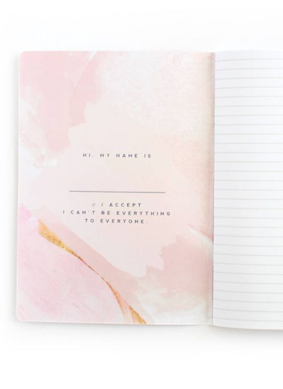 Hell YES - F No, Watercolor Inspirational Mantra Notebook - LURE Boutique