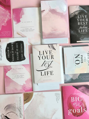 Hot Pink Notebook, BIG GOALS, Inspirational Notebook - LURE Boutique