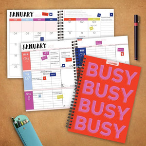 Busy Medium Weekly/Monthly Planner + Stickers - LURE Boutique