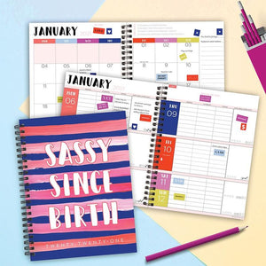 Sassy Medium Weekly/Monthly Planner + Stickers - LURE Boutique