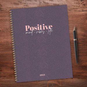 Positive Mind Vibes Life Large Weekly/Monthly Planner + Stickers - LURE Boutique