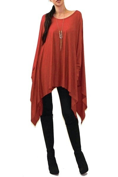 Poncho Top/Dress w/Sleeves - LURE Boutique