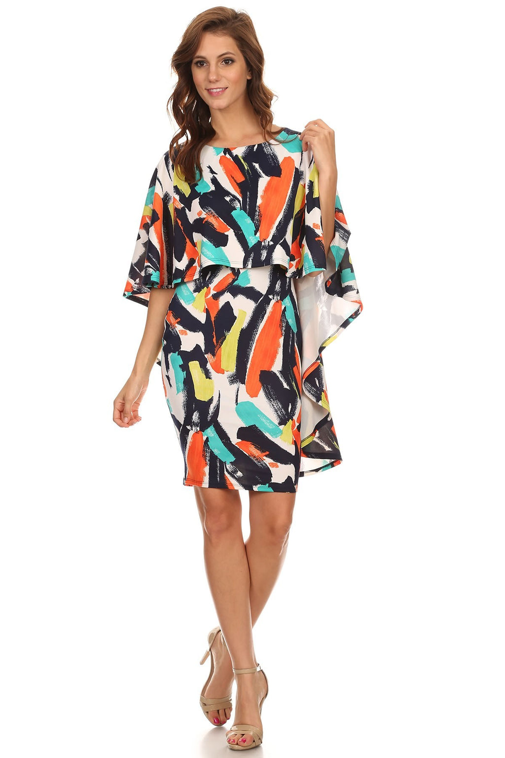 Caped Midi Dress - LURE Boutique