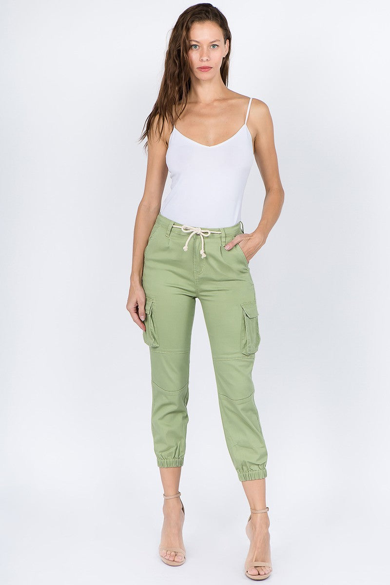 Cargo Joggers W/Fitted Ankles - LURE Boutique