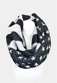 american flag infinity scarf red white and blue scarf team USA Olympics team USA trendy affordable fourth of july juniors women's fashion boutique online