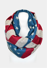 american flag infinity scarf red white and blue scarf team USA Olympics team usa