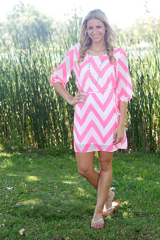 pink and white chevron dress cute juniors summer clothes party dress back to school clothes online boutique cute juniors clothes women's clothes online