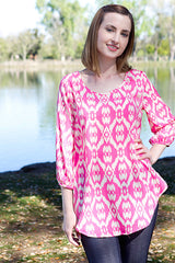 pink juniors top shirt pink tunic top women's clothing store online juniors clothes trendy boutique online affordable summer tops online clothing store online