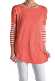 relaxed fit tunic top with stripes cute juniors clothes online clothing boutique trendy women's shirts tops online summer spring clothes online