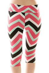 Chevron Capri Leggings