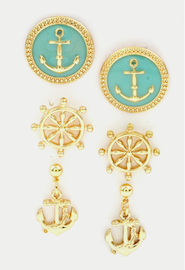anchor earring mint anchor earring gold anchor earring junior cheap affordable