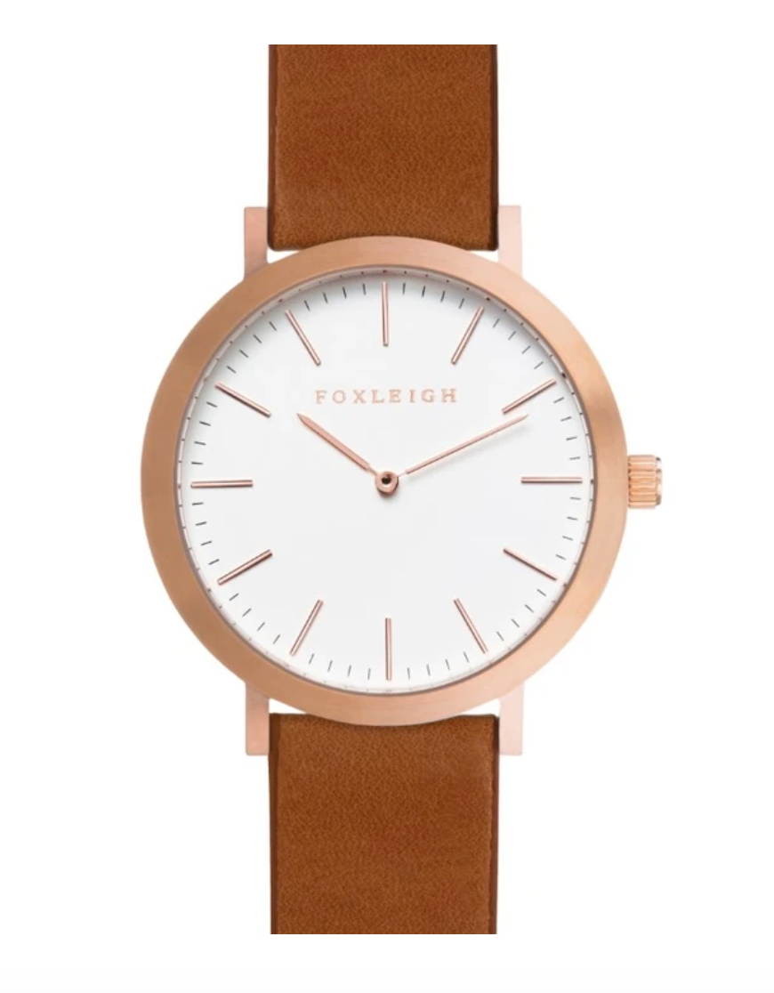 Foxleigh Mini Rose Gold/Tan Leather Timepiece