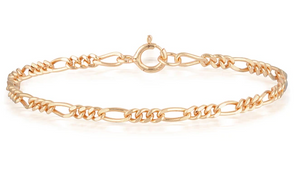 Silver Collective Aria Bracelet Chain - Rose Gold
