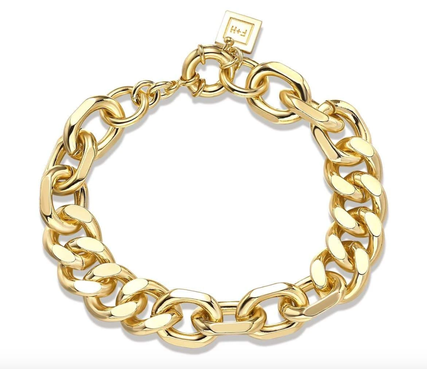F + H Mixed Up Statement Bracelet