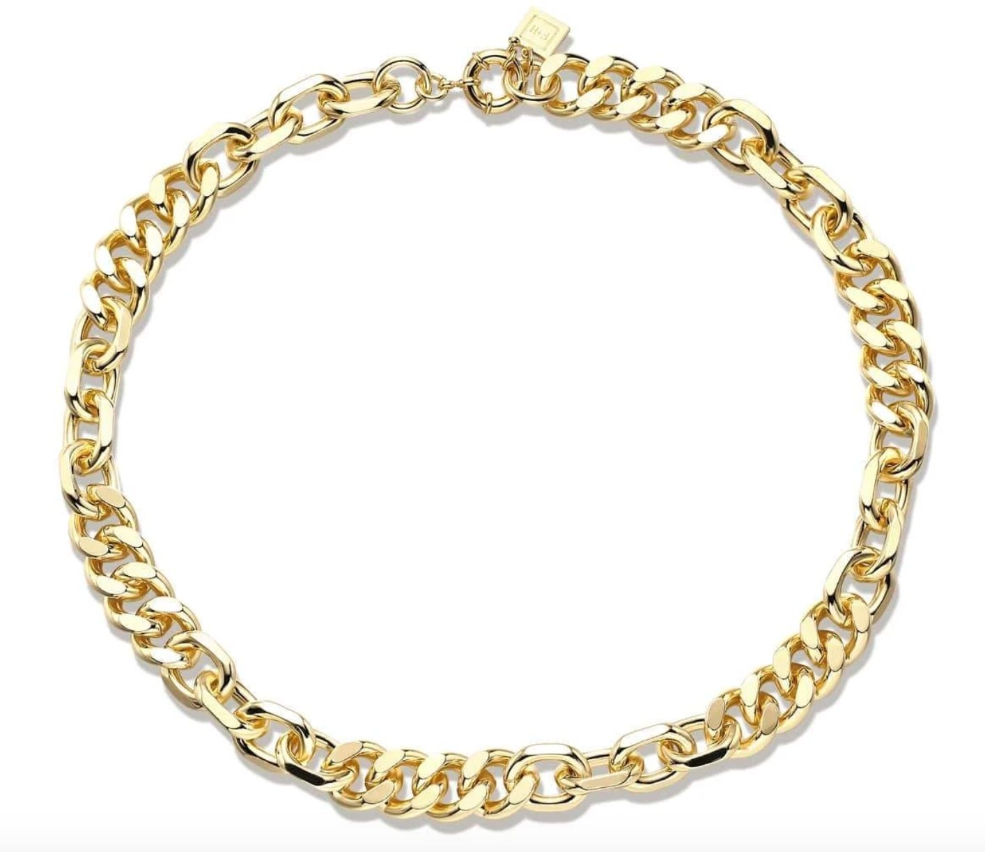F + H Mixed Up Statement Chain Necklace
