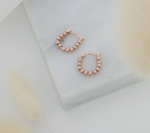 The Silver Collective Lennox Earrings Gold, Rose Gold & Silver