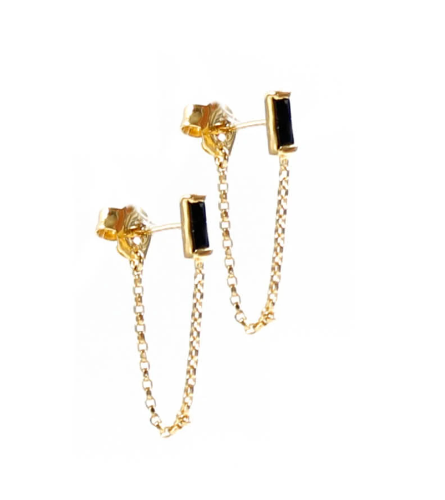 La Tribe Mini Stud Chain - Gold/ Black