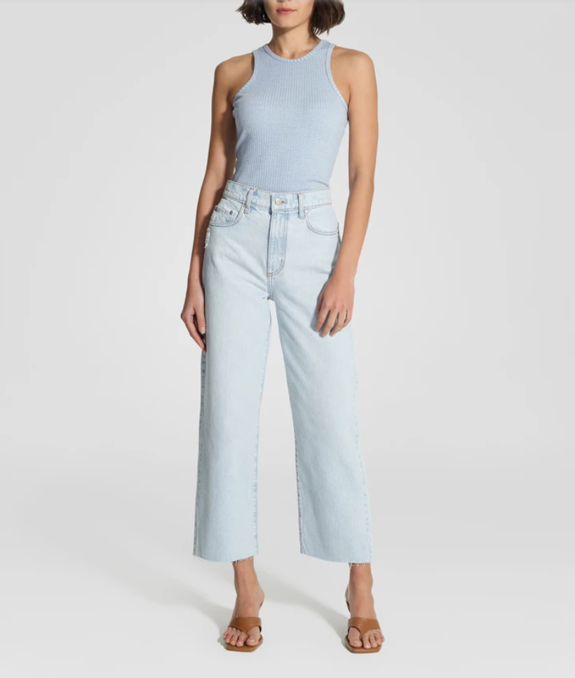 Nobody Denim Lou Jean Crop in Rumour
