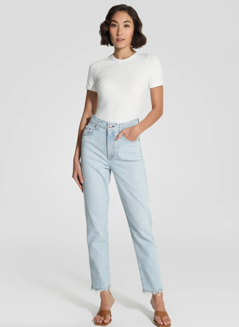 Nobody Denim Frankie Jean Ankle Stretch - Glimmer