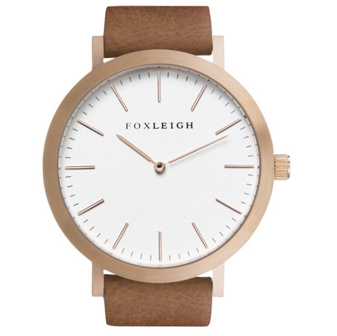 Foxleigh Watch Tan/Rosegold Timepiece