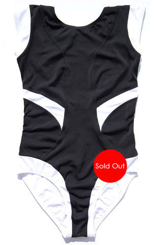 Tuxedo Diver Onepiece Swimsuit