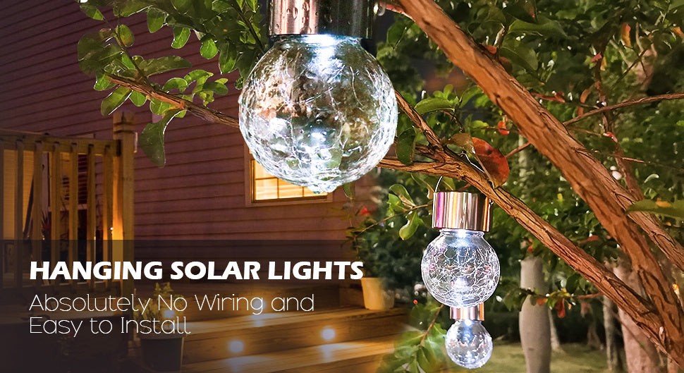 9 x STAINLESS STEEL SOLAR POWERED COLOUR CHANGING LED CRACK BALL GARDEN LIGHTS