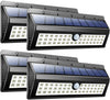 44 LED Waterproof Motion Sensor Lights Outdoor Wireless Solar Powered Wall Lights