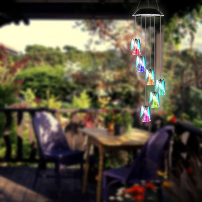 Color-Changing Angel Solar Powered Wind Chime Lights