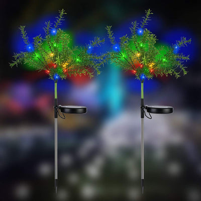 Decor Trees with Multi Color LED Flash Lights Solar Decorative Garden Stakes Lights(2 Pack)