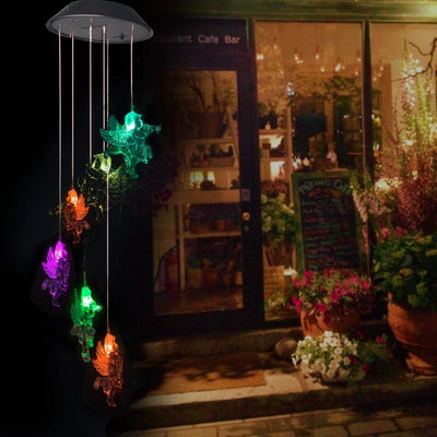 Little Angel Solar Powered Wind Chimes Light Color Changing LED Solar Mobile