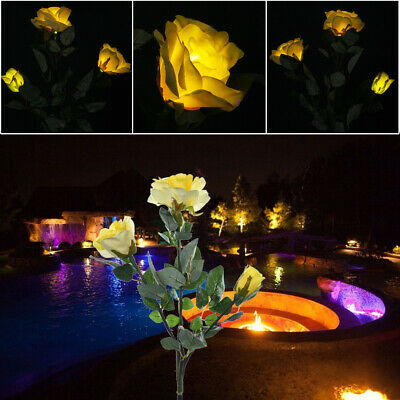 Clivia Flower Solar Garden Stake Lights 2 Pack Color Changing Patio Lights