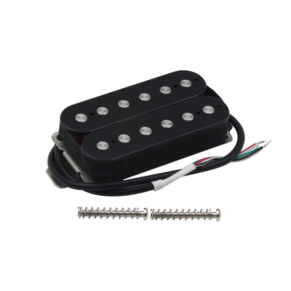 FLEOR Alnico 5 Double Coil Humbucker Electric Guitar Pickups for Electric Guitar,Black/White - iknmusic