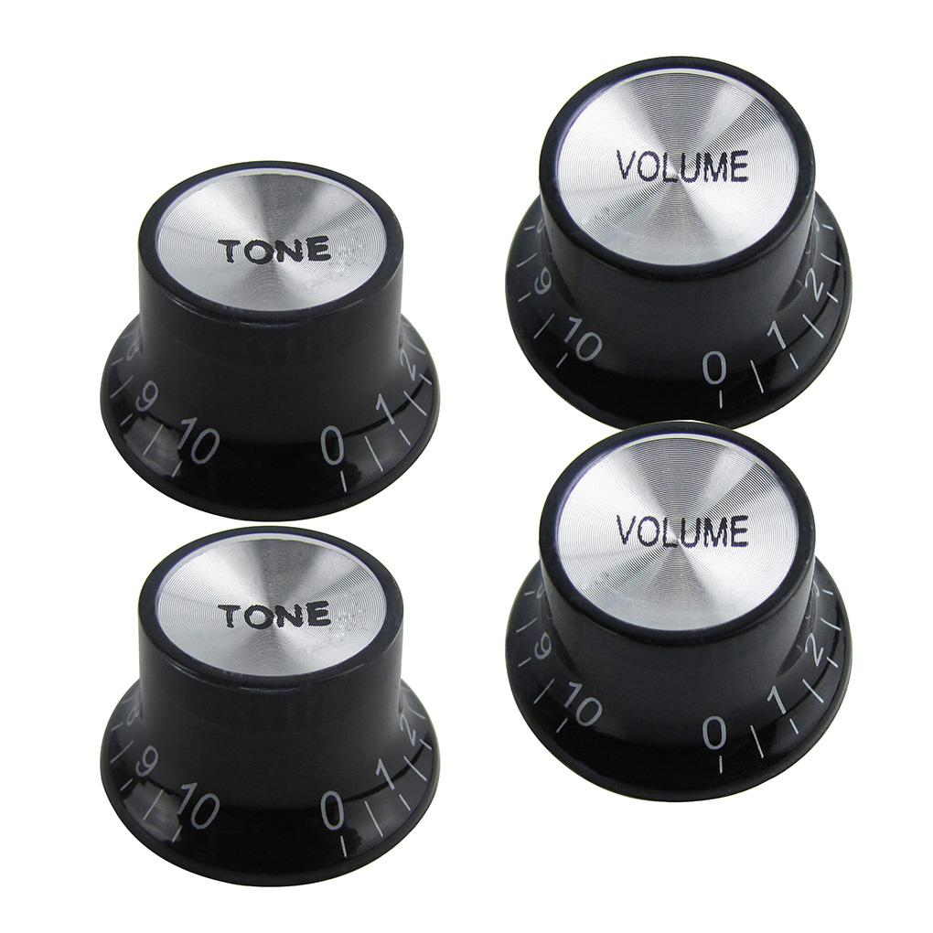 FLEOR 2T2V Guitar Top Hat Knobs for LP SG Guitar | iknmusic