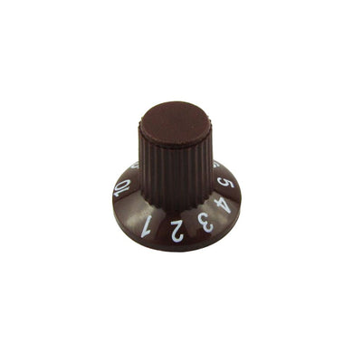 FLEOR Plastic Electric Guitar Knobs Amp Amplifier Control Knobs Caps Brown - iknmusic