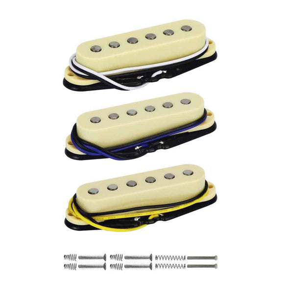FLEOR Vintage Alnico 5 Strat Single Coil Guitar Pickup Flat Top Guitar Parts,3 Colors Available - iknmusic